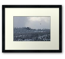 Snow and Helicopters Framed Print