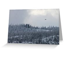 Snow and Helicopters Greeting Card