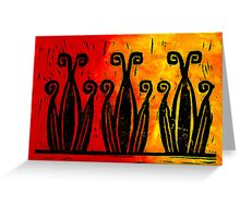 Grecian Border Lino block Print Greeting Card