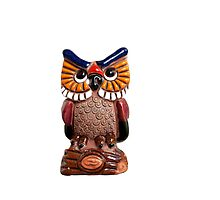 Small ceramic owl isolated Photographic Print