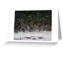 Splattering Rain Greeting Card