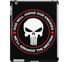 god will judge our enemies we'll arrange the meeting - red iPad Case/Skin