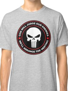 god will judge our enemies we'll arrange the meeting - red Classic T-Shirt