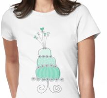 Sweet Mint Whimsical Wedding Cake Womens Fitted T-Shirt