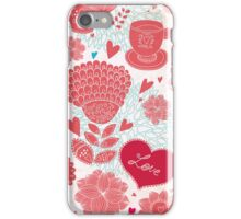 Vintage Flower Vector Love Iphone Case iPhone Case/Skin
