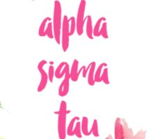 Alpha Sigma Tau Floral Sticker
