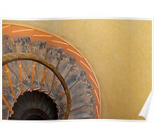 Spiral Staircase in Paris Poster