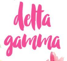Delta Gamma Floral Sticker