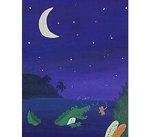 Alligator Chasing Firefly (Jungle Nursery) Photographic Print