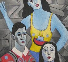 3 MIME FRIENDS. by Sergio  Roffe