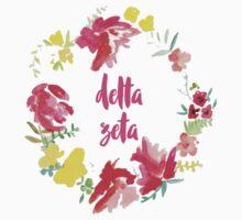 Delta Zeta Floral by rosiestelling