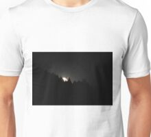 The rising of the moon above the horizon. Unisex T-Shirt