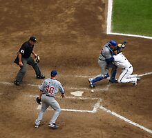 Tough Play at the Plate by Anthony Roma