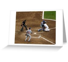 Tough Play at the Plate Greeting Card