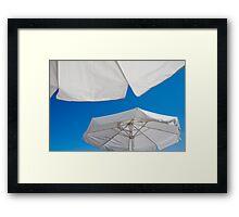 Summer Beach Umbrellas Framed Print