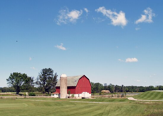 Red Barn on the Golf Course by Anthony Roma