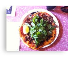 Pizza Agnello Canvas Print