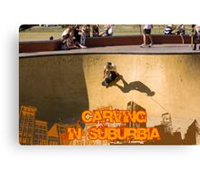 Skateboarding In Suburbia Canvas Print