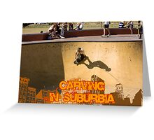 Skateboarding In Suburbia Greeting Card