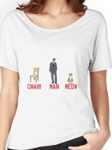 chari man meow Women's Relaxed Fit T-Shirt
