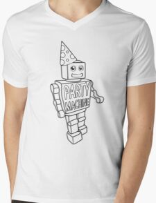 Party Machine Mens V-Neck T-Shirt