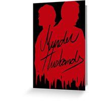 Murder Husbands [Red/Black] Greeting Card