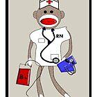Sock Monkey Nurse by gailg1957
