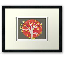 Contemporary Tree Art Framed Print