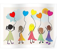"""Childrens Art """"Happiness"""" Poster"""