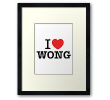 I Love WONG Framed Print