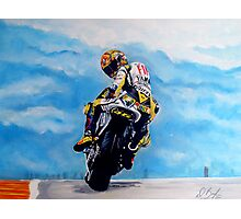 Rossi on motorbike by db artstudio Photographic Print