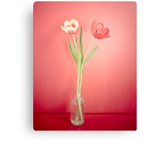 Tabletop Tulips Canvas Print