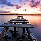 Dusk on the Bay -Cleveland Point Qld Australia by Beth  Wode