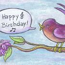Happy Birthday card by Ine Spee