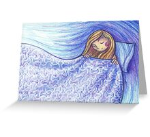 Under the covers Greeting Card