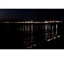 Fremantle at night from South Beach Photographic Print