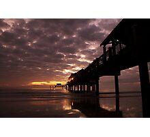 Sunset at Pier 60 Photographic Print