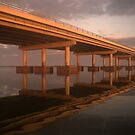 Sunrise at Bayway Bridge by JimSanders