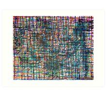 coloured lines Art Print