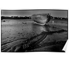 boat beach ballywalter Poster