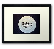 Waiter with a sense of humour Framed Print