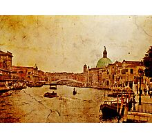 Grand Canal - Venice 1968 Photographic Print