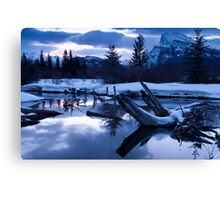 A chill is in the air - Banff AB Canada Canvas Print