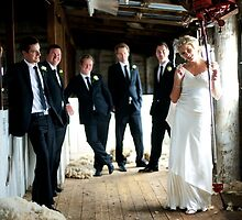 Shearing Shed Wedding Party by Jane Murray