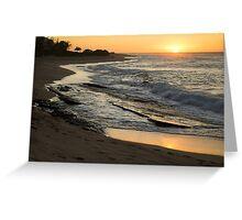 Tropical Island Sunrise Greeting Card