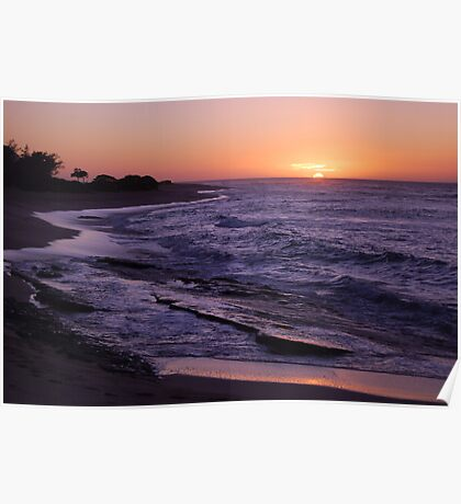 Tropical Island Sunset Poster