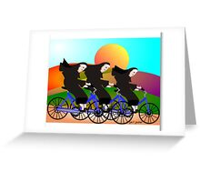 Nuns On Bikes Greeting Card