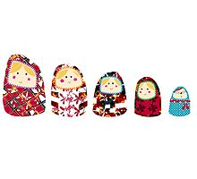 'Oh Matryoshka' Russian Dolls Illustration by Maxine Lee by MaxineLee