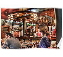 Restaurant Barcelona Poster