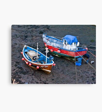 Flora Jane - Staithes Harbour. Canvas Print